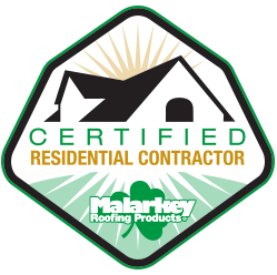 malarkey certified residential contractor logo